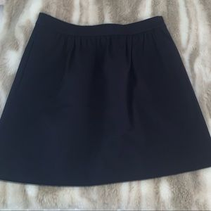 J. Crew Navy Skirt! Size 6. Worn once!!